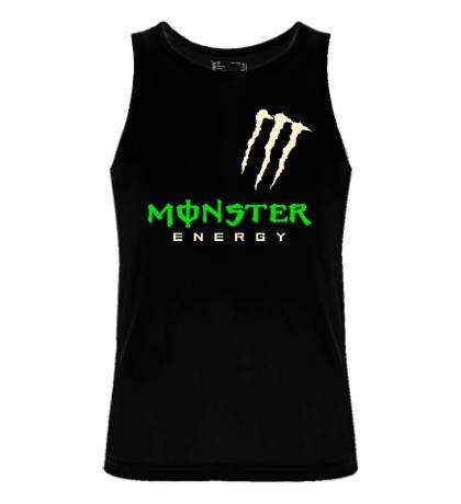 Мужская майка Monster energy shoulder glow
