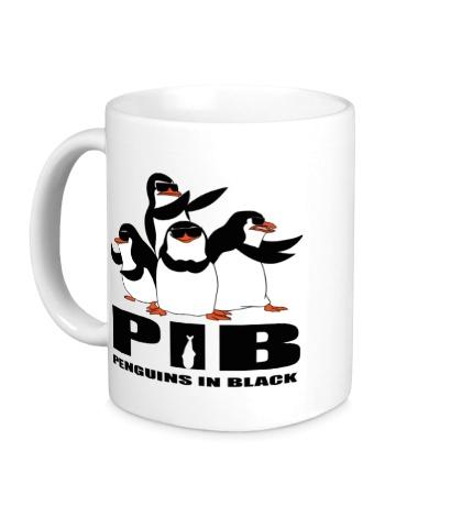 Керамическая кружка PIB Penguins in black