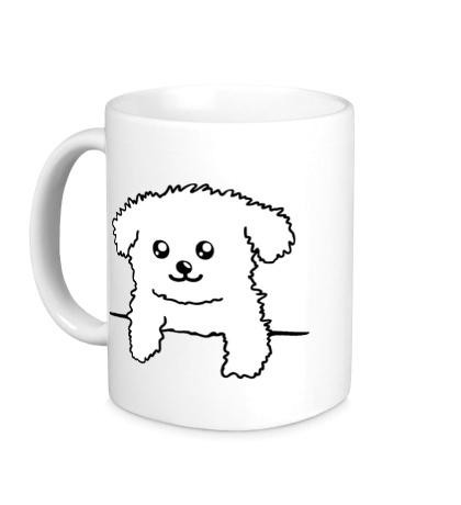 Керамическая кружка Карманный пёс