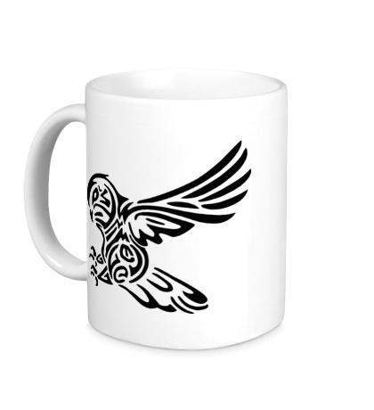 Керамическая кружка Бросок совы