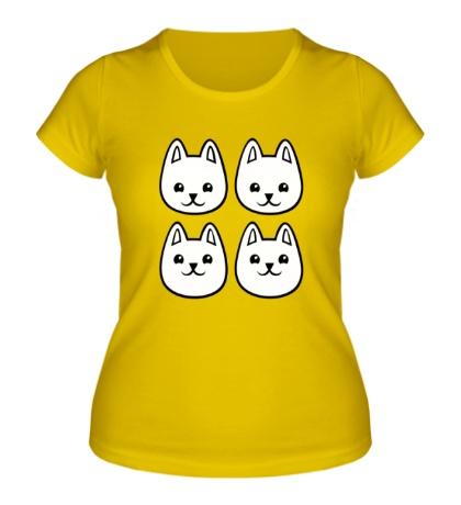 Женская футболка Песики
