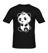 Мужская футболка Маленькая панда