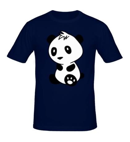 Мужская футболка «Маленькая панда»