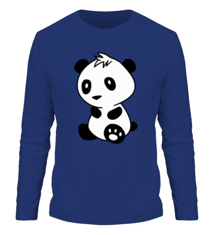Мужской лонгслив Маленькая панда