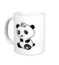 Керамическая кружка Маленькая панда