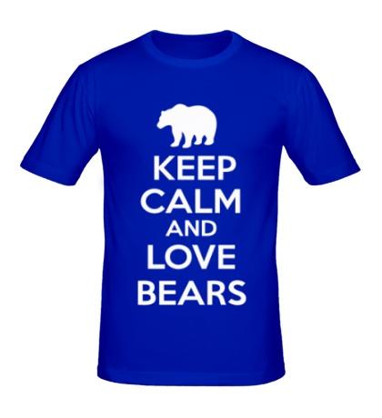 Мужская футболка Keep Calm & Love Bears
