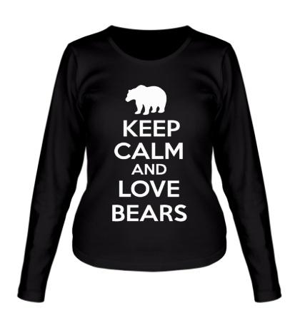 Женский лонгслив Keep Calm & Love Bears