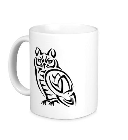 Керамическая кружка Кельтская сова