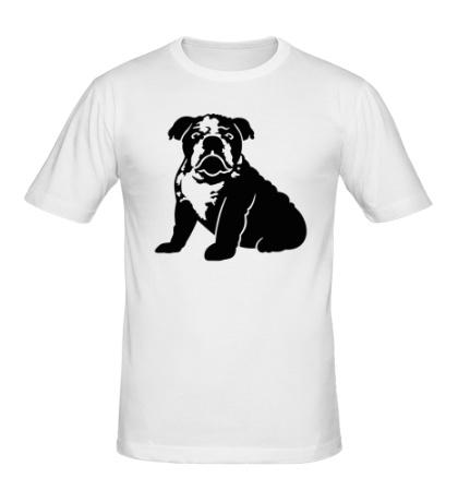 Мужская футболка Грустный бульдог