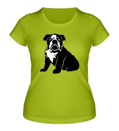 Женская футболка Грустный бульдог