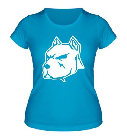 Женская футболка Пёс