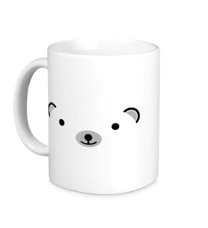 Керамическая кружка Мордашка медвежонка