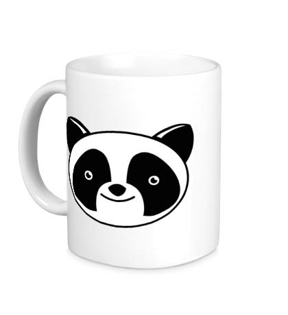 Керамическая кружка Мордашка панды