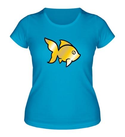 Женская футболка Золотая рыбка