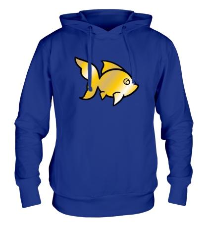 Толстовка с капюшоном Золотая рыбка