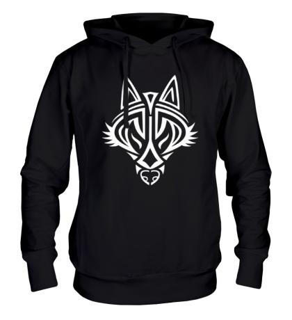 Толстовка с капюшоном Волчий символ