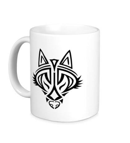 Керамическая кружка Волчий символ