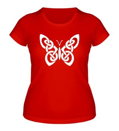 Женская футболка Кельтская бабочка