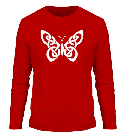 Мужской лонгслив Кельтская бабочка