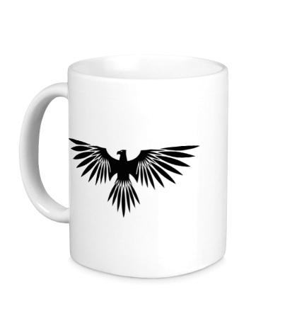 Керамическая кружка Величественная птица