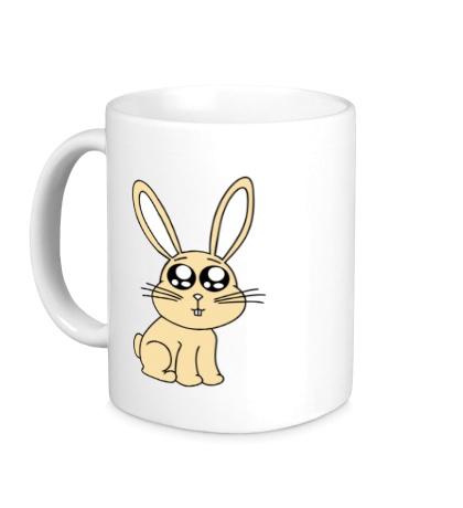 Керамическая кружка Милый зайчонок