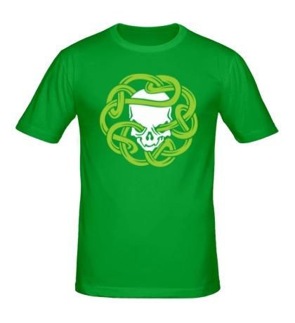 Мужская футболка Череп в кельтском узле