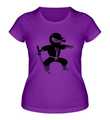 Женская футболка Черный ниндзя