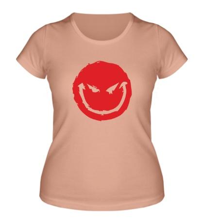 Женская футболка Коварный смайл