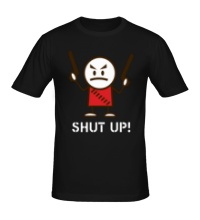 Мужская футболка Shut up