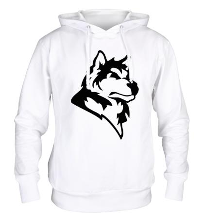 Толстовка с капюшоном Дикий волк