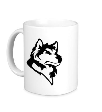 Керамическая кружка Дикий волк