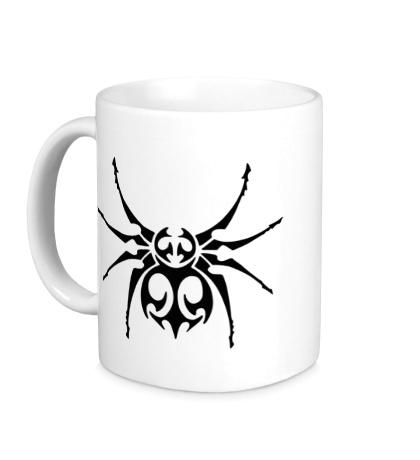 Керамическая кружка Тату паук