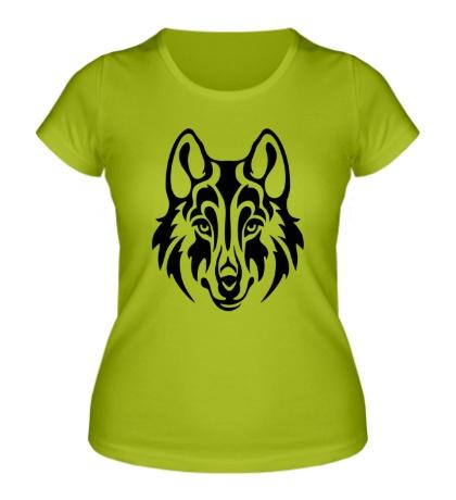 Женская футболка Морда волка