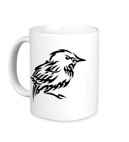 Керамическая кружка Тату птица
