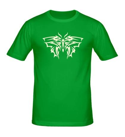 Мужская футболка Тату бабочка свет