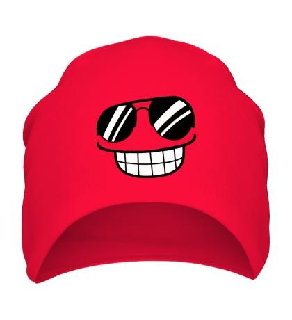 Шапка Смайл в солнцезащитных очках