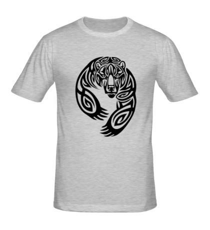 Мужская футболка Тату медведь