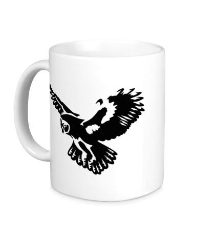 Керамическая кружка Полет совы