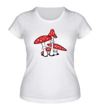 Женская футболка Грибы мухоморы
