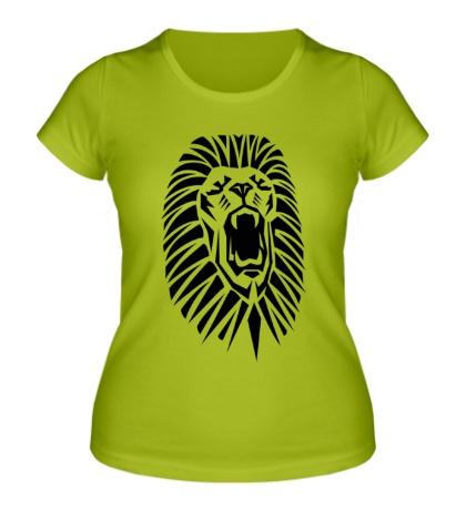 Женская футболка Львиный рык