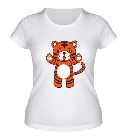 Женская футболка Тигрёнок
