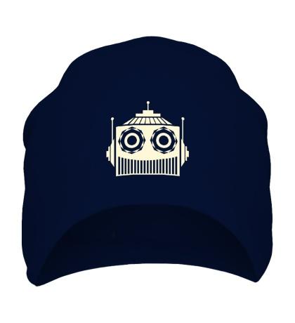 Шапка Голова робота свет
