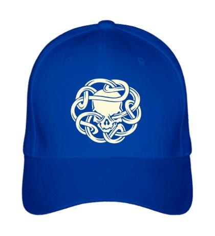 Бейсболка Череп в кельтском узле, свет