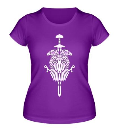 Женская футболка Вороны