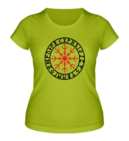Женская футболка Шлем ужаса: руна