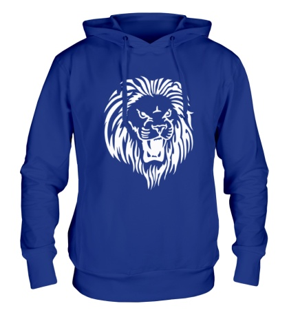 Толстовка с капюшоном Рычащий лев