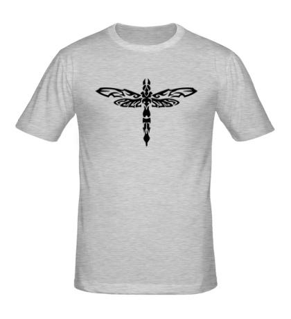 Мужская футболка Тату стрекоза