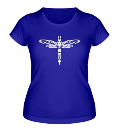 Женская футболка Тату стрекоза