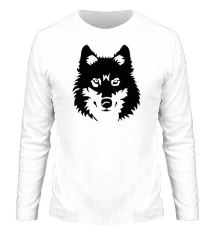Мужской лонгслив Северный волк
