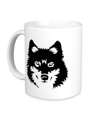 Керамическая кружка Северный волк